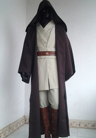 Adult Star Wars Obi Wan Kenobi Jedi Knight Suits Cloak Cosplay Complete Costume