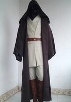 Adult Star Wars Obi Wan Kenobi Jedi Knight Suits Cloak Cosplay Complete Costume