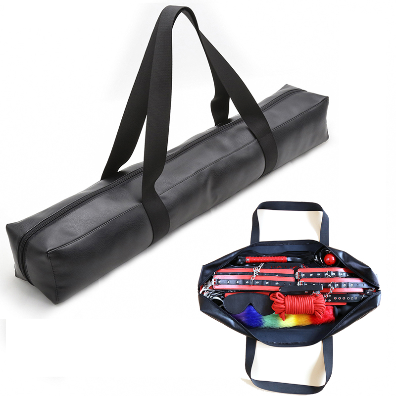 Large Capacity Sex Bondage Bag For Sex Toys Leather Handbags Storage Handbag For Sex Whip Mouth Gag Bdsm Bondage Sex Products