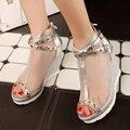 AIWEIYi Women's Summer Boots Wedges High Heels Cutouts Ankle Boots Spring Summer Casual Dress Shoes Peep toe Women Boots Sandals