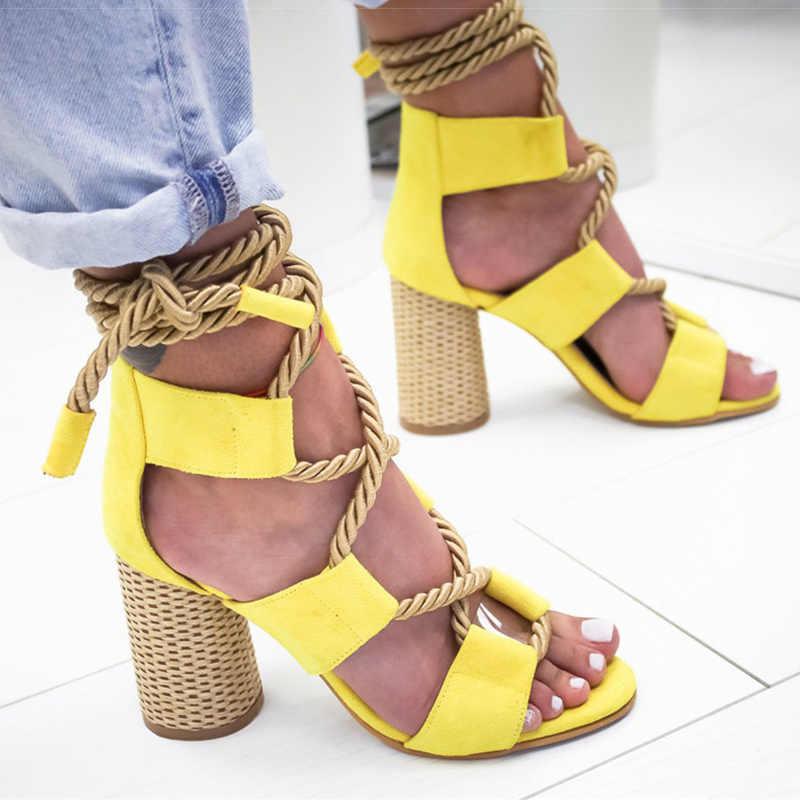 Vrouwen Pompen Fabriek Direct Plus Size Vrouwen Hakken Peep Toe Hoge Hakken Sandalen Voor de Zomer Schoenen Vrouw Gladiator Sandalen Partij hak