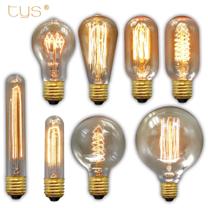 edison bulb e27 220v 40w st64 g95 retro lamp filament bulb edison lamp incandescent light bulb. Black Bedroom Furniture Sets. Home Design Ideas