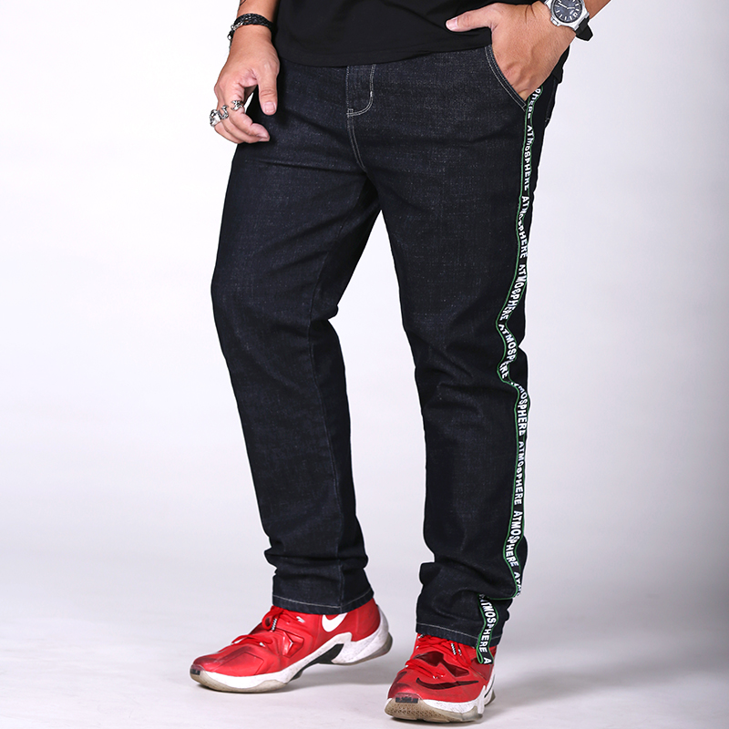 Extra Large Size 30-48 Mens Black Jeans Spring Autumn Men Casual Jeans