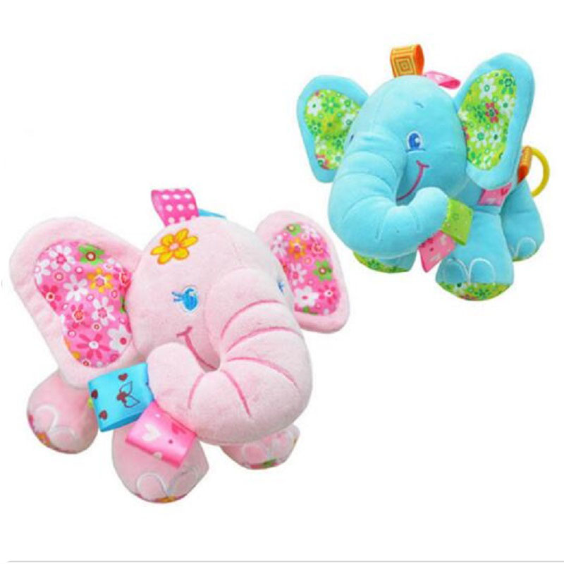 Elephant Lathe Hanging Bell Sussen Baby 0-12 Maanden Speelgoed Baby Musical Crib Mobiles Toy Cartoon Developmental Doll Stroller