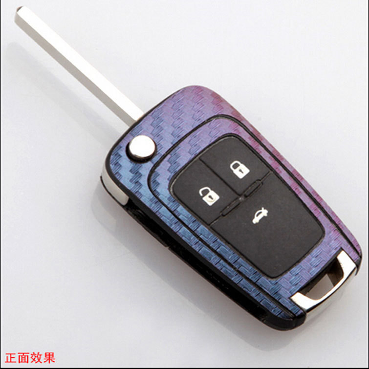 Car <font><b>remote</b></font> <font><b>key</b></font> protection case cover carbon fiber sticker for Buick ENCORE <font><b>Excelle</b></font> GT/XT /Opel VAUXHALL MOKKA Zafira Astra image