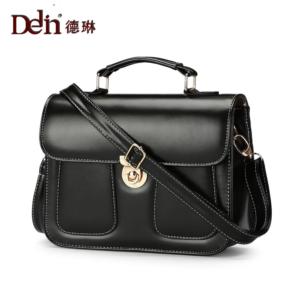 DELIN New female bag European and American fashion best Mr Bill of lading inclined shoulder bag
