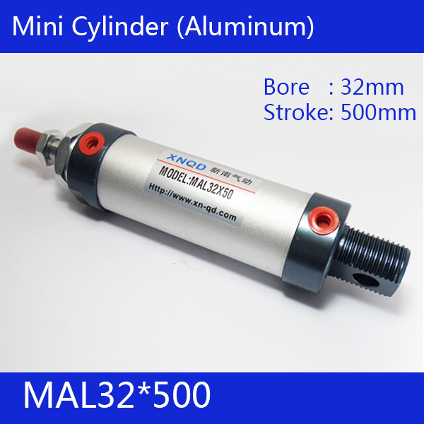 ФОТО Free shipping barrel 32mm Bore500mm Stroke  MAL32*500 Aluminum alloy mini cylinder Pneumatic Air Cylinder MAL32-500
