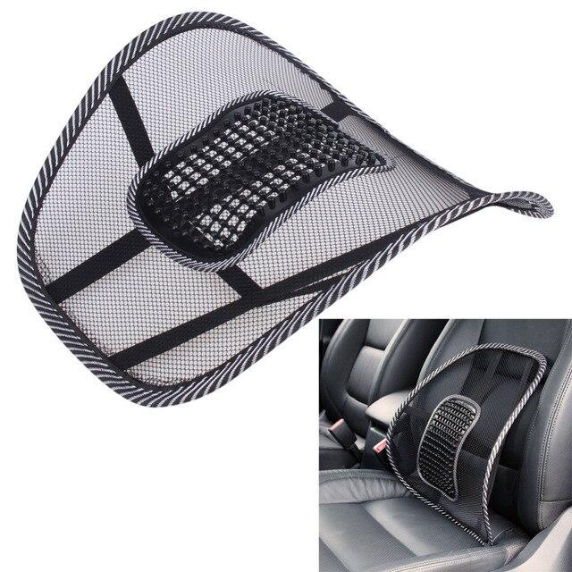 Assento de carro apoiado por uma almofada almofada de massagem lombar volta cintura cinta lombar assento suporta almofada cadeira de escritório assento de carro almofada