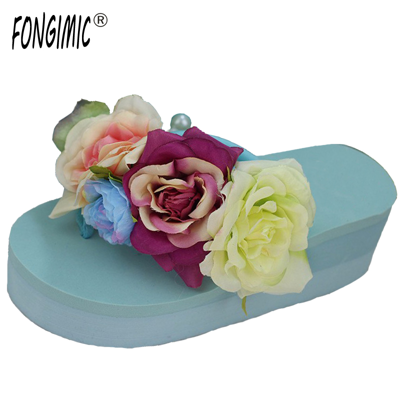 Hot Selling Bohemia Flowers Women Beach Summer Sandals All-match Slip- Resistant Slippers Platform Sandal Flip Flops Shoes slip resistant summer sandals female drag platform female beach slippers flatbottomed women s slippers