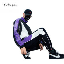 Tracksuit Men Sweatshirt Men Sportswear Streewear Hip Hop Sweat Male Tracksuit Hoodies 2 PCS Jacket + Pants Moletom Masculino(China)