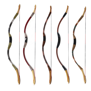 Multicolor Archery Target Wooden Game Bow Recurve Traditional Bow For Women Children Outdoor Hunting Sports Shooting Gift