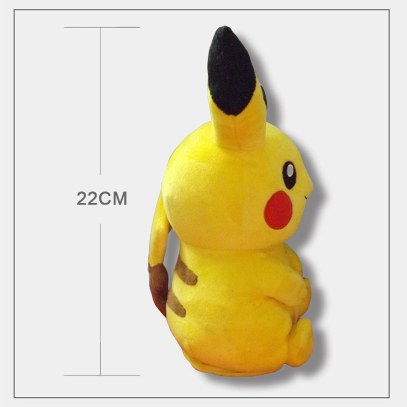 Cute Pokemon Pikachu Figures Soft Stuffed Plush Doll Kids Child Toy 18cm Gift R3