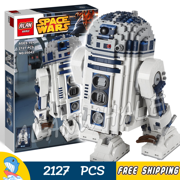 2127pcs New Space Wars Ultimate Collector R2D2 Robots 05043 Big Size Model Building Blocks Toys Bricks Game Compatible With Lego 499pcs new space wars at dp robots 10376 model building blocks toys gift rebels animated tv series bricks compatible with lego