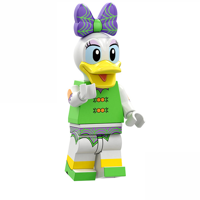 For Friends Mickeys Unikitty Cartoon Donald Duck Daisy PRINCESS Mermai Duck Tinker Minnie Mouse Building Blocks Figures Toys