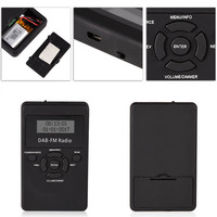 Portable DAB/DAB+/FM Radio LCD Pocket Digital DAB Receiver Rechargeable Battery LCC77