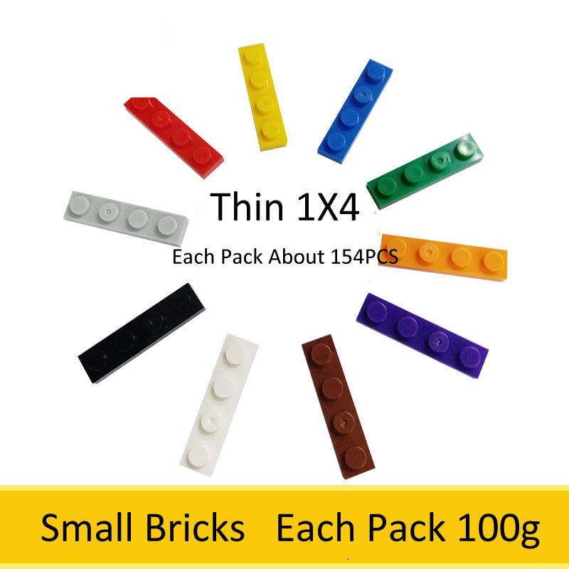 все цены на 1X4 Thin Small Bricks 1Pack About 154PCS Small Building Blocks Each Pack 100g Accessories Bulk Bricks Compatible Legoed онлайн