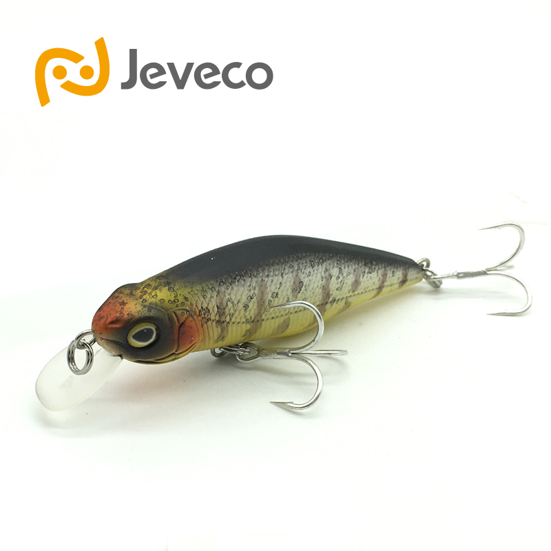 Jeveco JVC015 fishing lures, 70mm/8.5g shad,quality professional minnow hard baits, Artificial Bait Plastic 3D Eyes Wobbler wldslure 1pc 54g minnow sea fishing crankbait bass hard bait tuna lures wobbler trolling lure treble hook