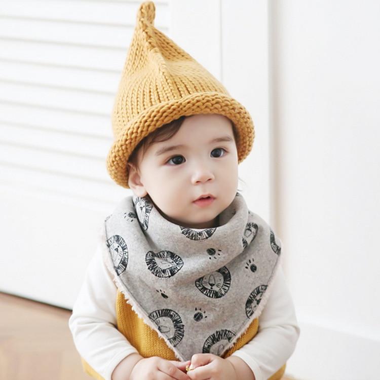 7454dba52893 Winter Warm Cotton Baby Bibs Kids Boys Bibs Child Scarf Children ...