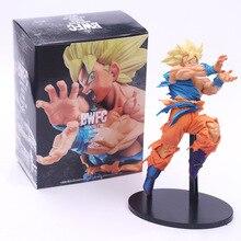 Dragon Ball Z Goku pozytywnie w obliczu wroga styl figurka DBZ Goku Super Saiyan Shock Wave zabawki do kolekcjonowania 18cm