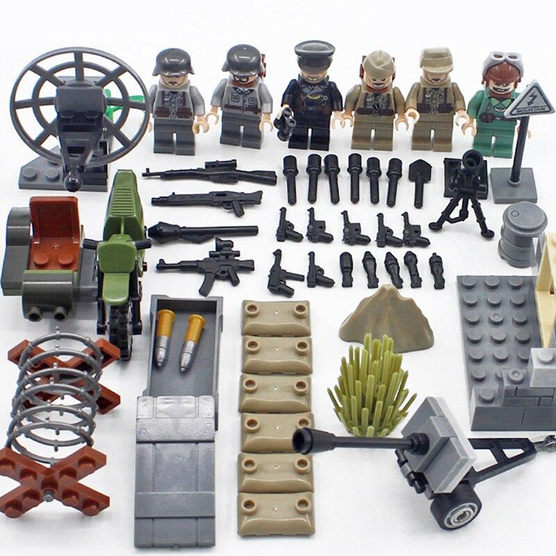 World war Desert Eagle brickmania military figures building block ww2 germany army air forces minifigs weapon bricks toy for boy call of duty advanced warfare army