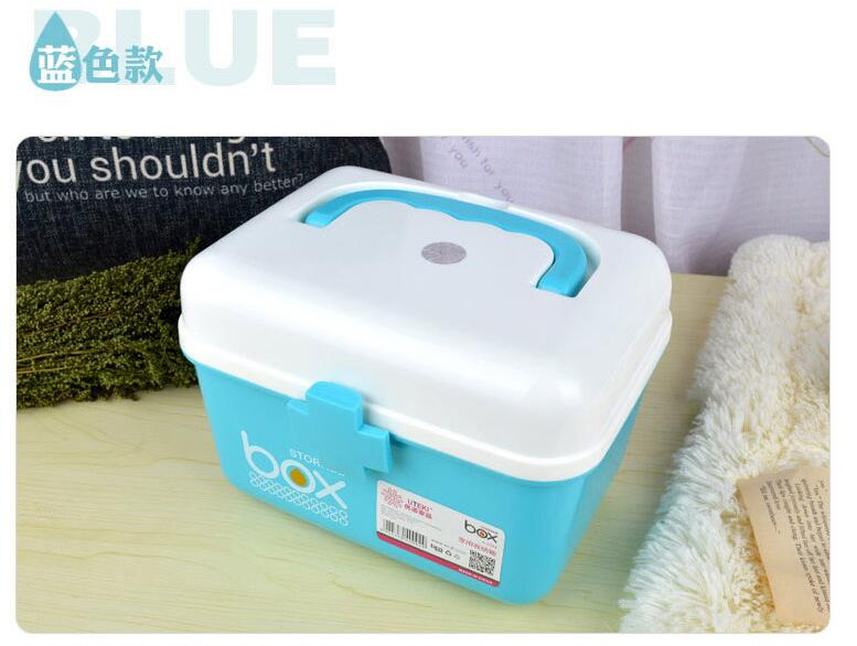 Candy color home first aid kit medicine box family double-layer portable medicine storage box first aid kit multi family home healthcare kits wholesale pharmaceutical medicine box medical portable suitcase medical kit