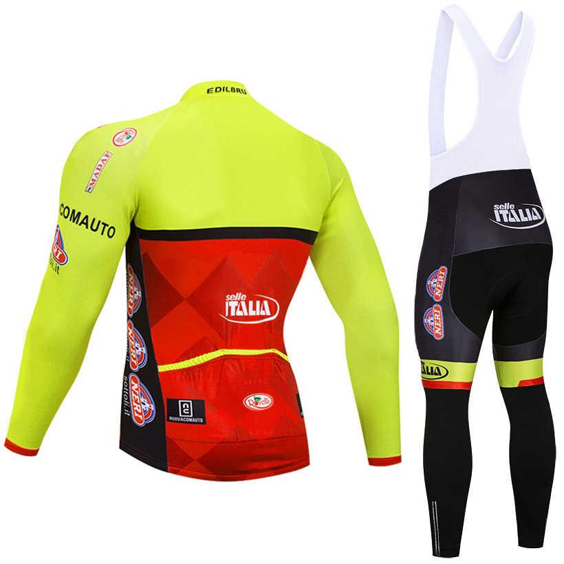 2019 зима желтый ITALIA команда длинные велосипедные Джерси велосипед брюки мужские Ropa Ciclismo тепловой флис велосипедный майон Culotte одежда