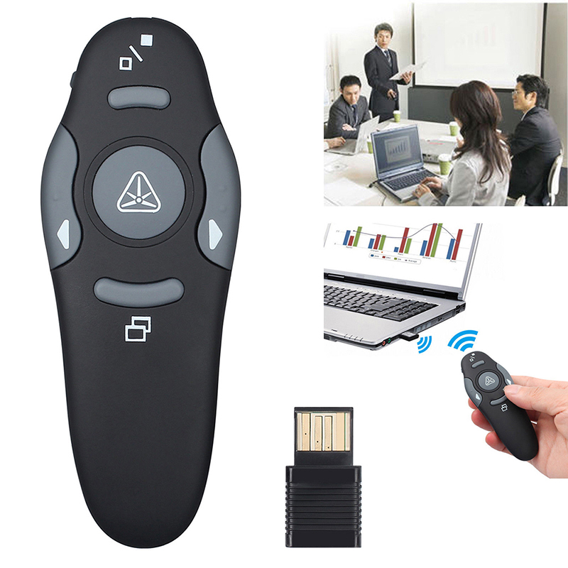 2.4 GHz Wireless Remote Red Laser Pointer Presenter Pointers Pen USB RF Remote Control PPT Powerpoint Presentation image