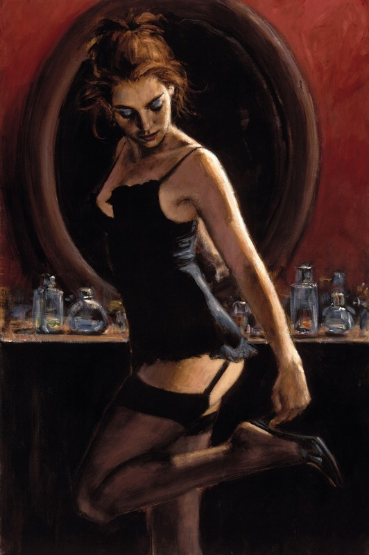 Marilyn Monroe Red Dress Original Painting Portrait Poster Pin Up Art Print 022