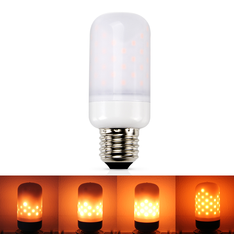 Led Flame Lamps E27 LED E14 Flame Effect Bulb 110V 220V Flickering Emulation Fire Light 5W Vintage Atmosphere Decorative Lamp lan mu 220v flame fire light led bulb