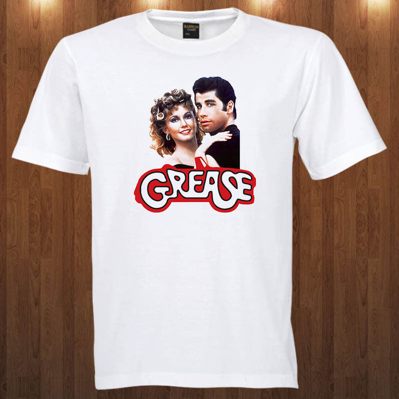 Grease Tee Musical Romantic Comedy Film John Travolta S-3XL T-Shirt Casual Short Sleeve T Shirt Novelty Youth Interesting
