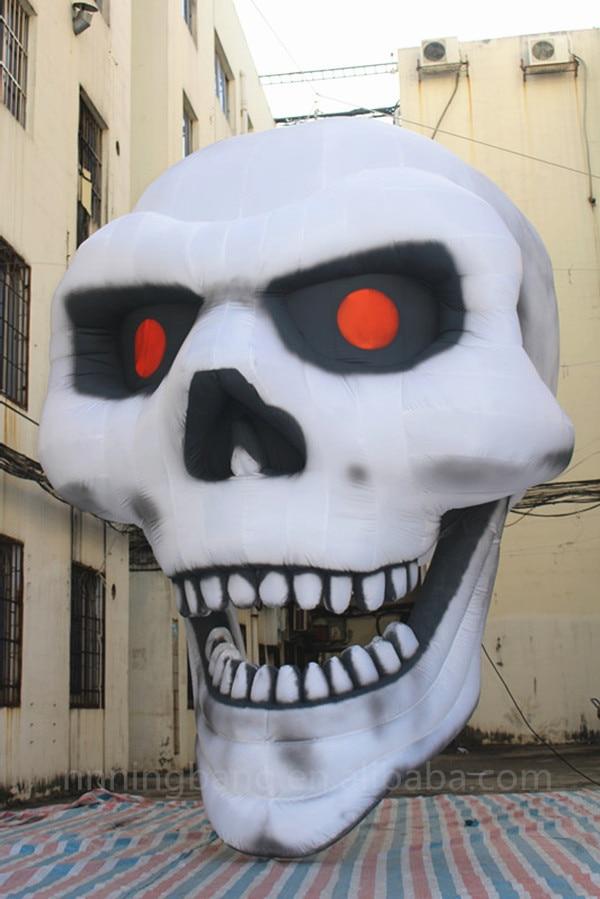 Livraison gratuite 4.5 m de haut crâne gonflable pour la nuit d'halloween