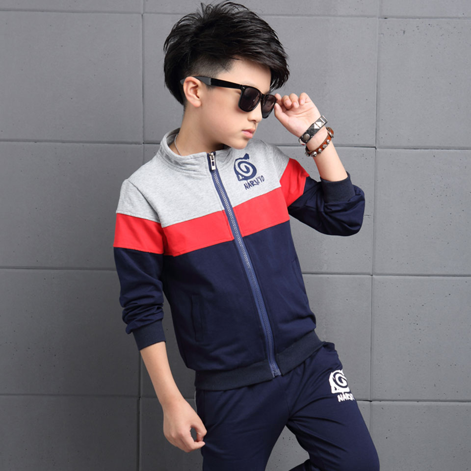 Baby Boy Clothes Kaqukaqi Brand Cotton Boys Sport Suits Casual Tracksuit Spring Autumn Children-clothing Kids 2Pcs Sport Suits