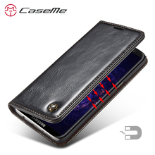 sFor Samsung S8 Leather Case Plus Luxury Magnetic Flip Cover