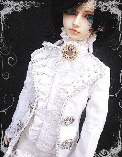 510# White Prince Suit/Outfit 1/4 MSD BJD Boy Dollfie