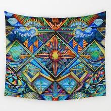 Geometric Irregular Hippie Mandala Sample Tapestry summary portray Artwork Wall Hanging Gobelin Livingroom Decor Crafts
