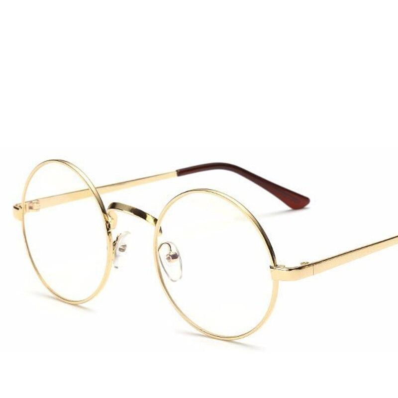 Gafas Redondas de la vendimia Hombres gafas de Sol de Marco de Metal ...