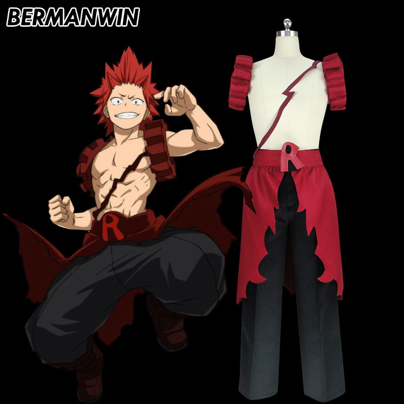 BERMANWIN High Quality My Hero Academia Boku no Hero Academia Eijiro Kirishima Cosplay Costume