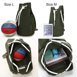 Image 3 - Men Gym Bag Drawstring Backpack Bucket Sports Basketball Bags For Women Fitness Canvas Rucksuck Sac De Sport Mochila XA718WA