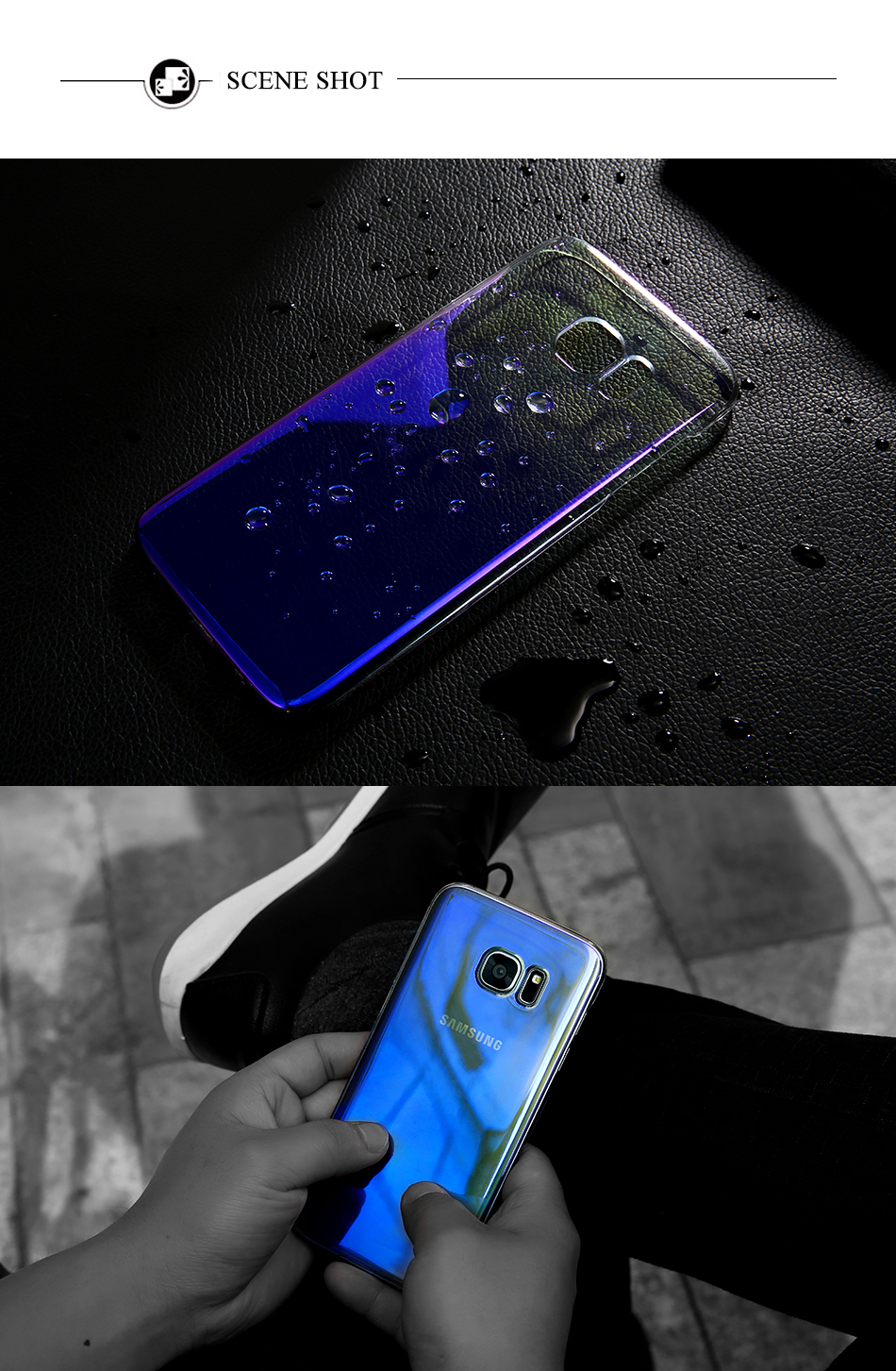 Blue Ray Gradient For Samsung S8 S8 Plus S7 S6 PC Case YYF (6)