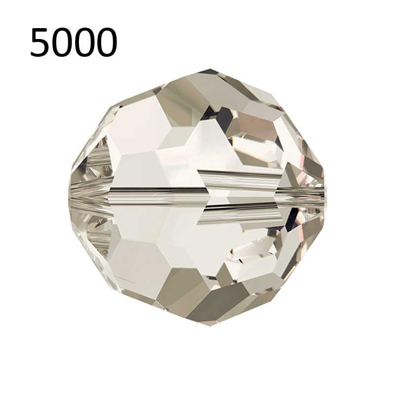 (1 חתיכה) 100% מקורי 4mm קריסטל סברובסקי 5000 נצחי עגול חרוזים תוצרת אוסטריה עבור DIY ביצוע צמיד תכשיטים