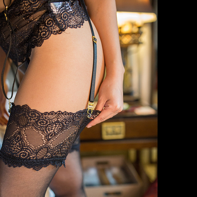 Garter Set Long Strap Suspender Belt Lace