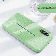 Líquido suave Silicone Telefone Casefor huawei p20 p20 pro caso lite Plus Soft Gel Capa de Proteção Integral À Prova de Choque de Borracha simples caso