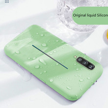 Soft Liquid Silicone Phone Casefor huawei p20 lite p20 pro case Plus Soft Gel Rubber Shockproof Cover Full Protective plain Case