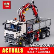 LEPIN 20005 2793 pcs série Technic Arocs caminhão Modelo de blocos de Construção Tijolos Clássico Compatível 42043 para Presentes de Natal do Menino