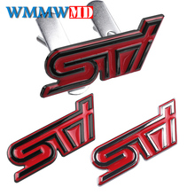 3D metal Car Sticker STI Front Grill Emblem Grille Badge For Subaru Forester Legacy Impreza Outback WRX WRC Auto Accessories стоимость