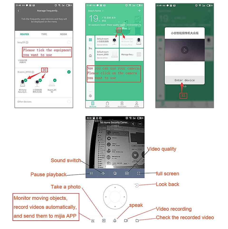 Original Xiaomi Mijia IP Camera Dafang Smart Monitor 110 Degree 1080p HD Intelligent Security WIFI Night Vision For Mi Home App (5)