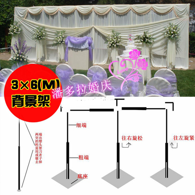 3m 6m Wedding Stainless Steel Pipe 10ft H By 20ft W