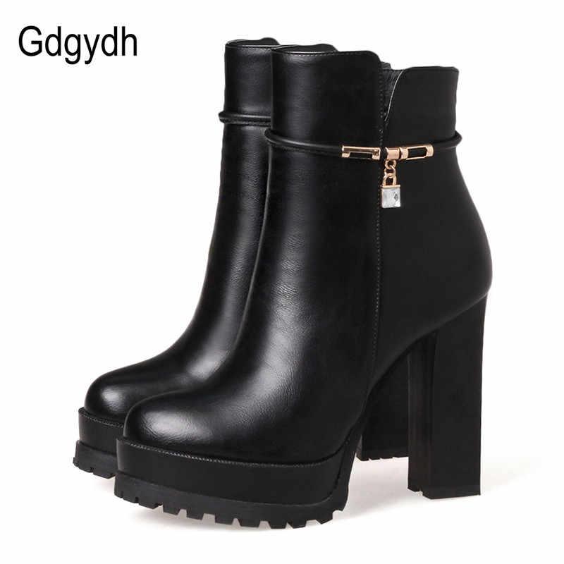Gdgydh Mode Kristall Knöchel Stiefel Für Frauen Leder Partei Schuhe 2020 Neue Frühling Herbst High Heels Schuhe Plattform Große Größe 43