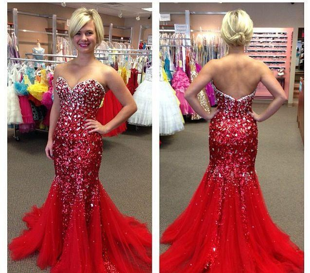 Red And Gold Prom Dresses 2015 - Missy Dress