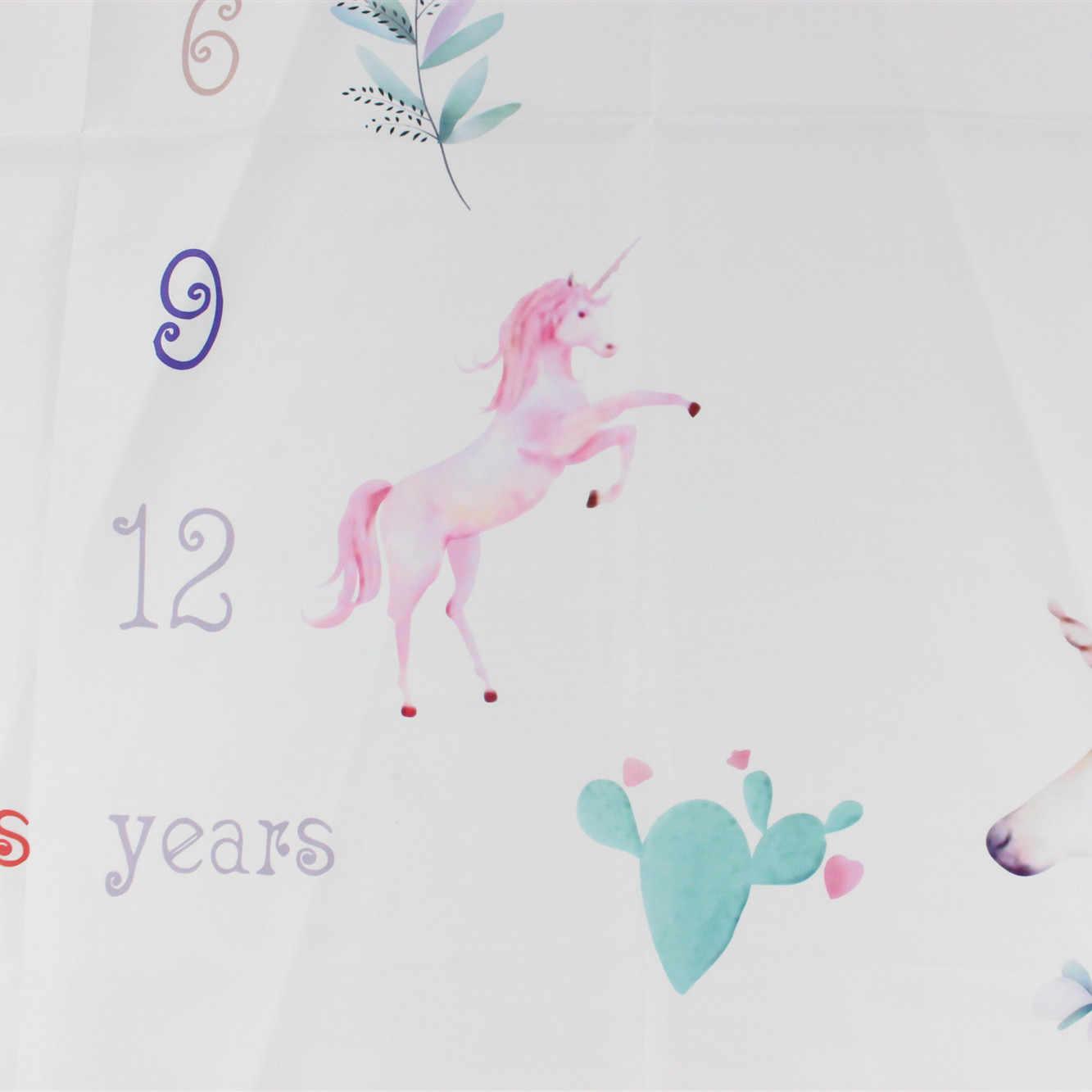 Unissex bebê marco cobertor newborn fotografia adereços da foto dos desenhos animados animal da criança memorial dia mensal pano de fundo
